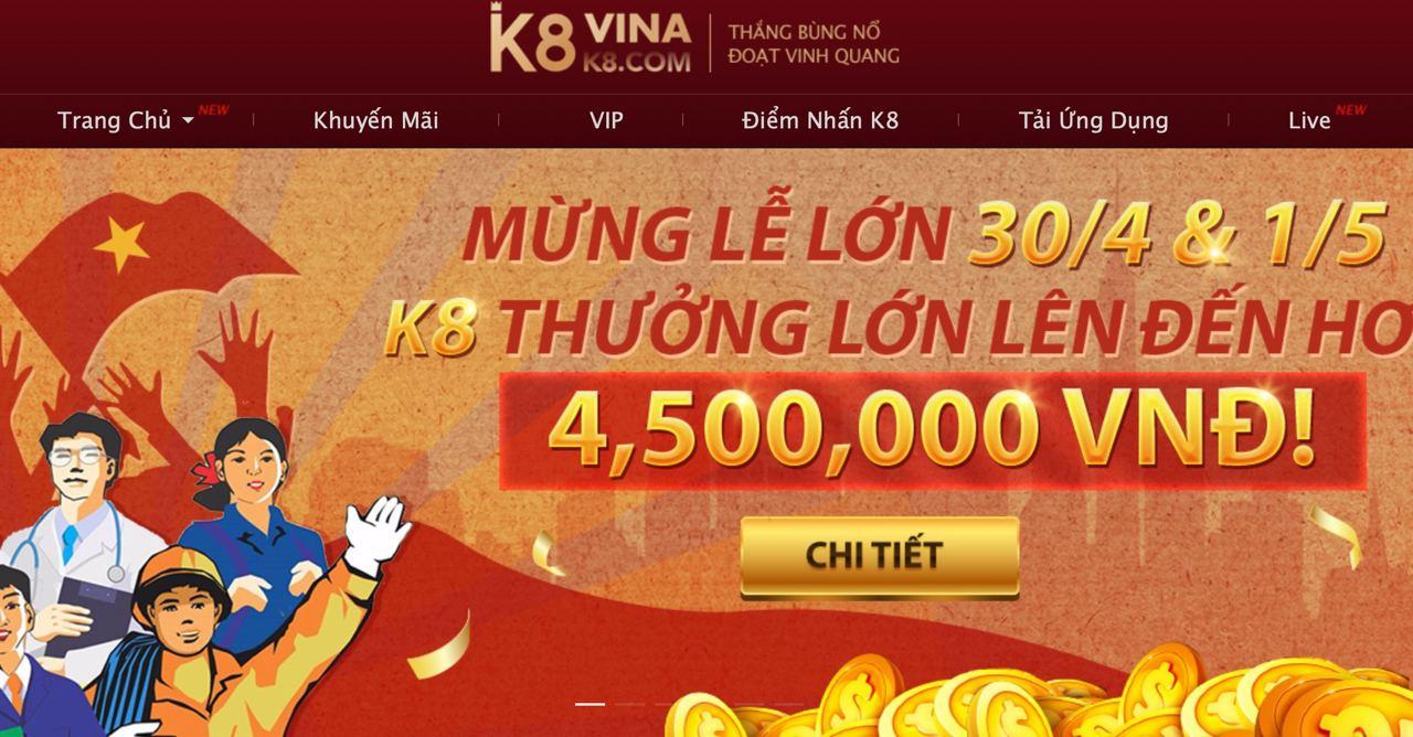 K8 Trang casino uy tín hàng đầu việt Nam
